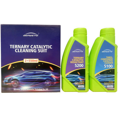 China Three Way Auto Catalytic Converter Cleaner Two Bottles Chemical Cleaning factory