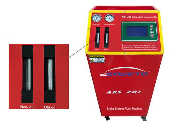 China Red Auto Brake Bleeding Machine Most Sludge Impurities Filtered Light Weight factory