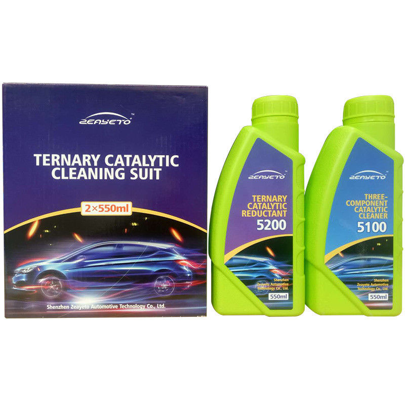Three Way Auto Catalytic Converter Cleaner Two Bottles Chemical Cleaning supplier